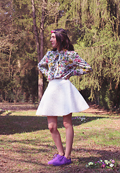 Maeva - Claire's Headband, H&M Blouse, H&M Shoes - Spring!