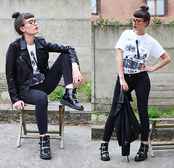 ♡Nelly Kitty♡ - Naf Black Leather Jacket, Asos Combat Boots - OOTD#67