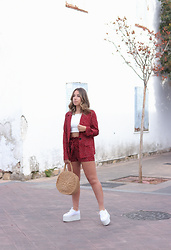 Claudia Villanueva - Shein Suit, Zara Top, Shein Bag, Superga Sneakers - The Summer Suit