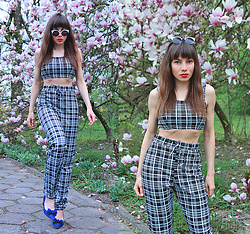 Jointy&Croissanty © - Femmeluxefinery Co Ord - Plaid co-ord