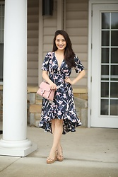 Kimberly Kong - Asos Floral Maxi Dress, Gucci Blush Bag - Accessorizing with Dainty Gold Jewelry