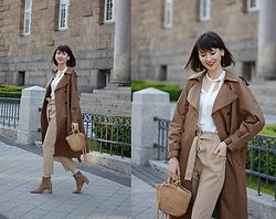 Daisyline . - Mango Boots, Mango Bag, Zara Pants, H&M Trench Coat - Shades of brown / www.daisyline.pl