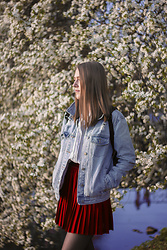 Caroline Whale - H&M Skirt, Cubus Denim Jacket - Spring is OK