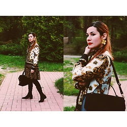 Roxana Ionescu - Local Store Dress, Primark Bag, Stradivarius Boots, H&M Earrings - The forest.