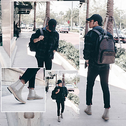 Andre Tan - Coach Backpack, New Republic Man Chelsea Boots, Forever 21 Plaid Shirt - Love galore