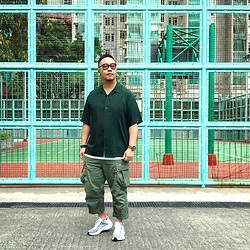 Mannix Lo - Gu Open Collar Shirt, Madness Military Cargo Pants, Nike Exp 14 Sneakers - God has a great plan for you in right timing