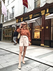 Aneta Kramarska - Topshop Jacket, Topshop Shorts, H&M Shoes - New Bond Street