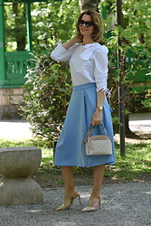 Butterfly Petty - Womanfashion.Ro Skirt, Michael Kors Bag, Womanfashion.Ro Blouse, Zara Shoes - Elegant outfit