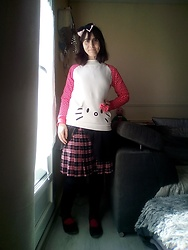 Lulu Longstocking - Hello Kitty Sweater, Bodyline Lolita Skirt - Kawaii kitty