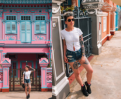 Carolyn W - Uniqlo White, American Eagle Outfitters Denim, Custom - Singapore