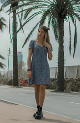 Annie O.Meow - Mango Dress Flower, Dr. Martens My Boots - Barcelona Coast