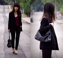 Clara . - Topshop Blazer, Whistles Bag - Workwear