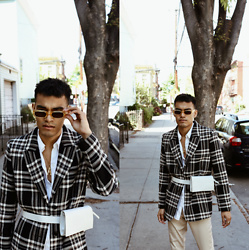 Alejandro Cantoral - & Other Stories Blazer, & Other Stories Yellow Sunnies, Celine A Necklace, Zara Pants - I Don't Know You