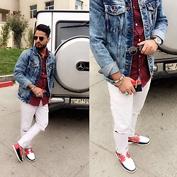 ♚ Mr.Prince Vadaan ♚ - Pull & Bear Jacket, Zara Jeans, Ray Ban Sunglasses, Fossil Watch - ❌Life Style ❌ .