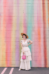 Amy Roiland - Zayan Dress, Poppy Lissiman Bag - Pastels