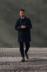 Kevin Elezaj - Selected Homme Boots, Filippa K Chino, Hugo Boss Shirt, Barbour Parka - Classy