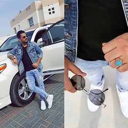 ♚ Mr.Prince Vadaan ♚ - Ray Ban Sunglasses, Puma Shoes, Pull & Bear Jacket - 🔷 Denim-addicted 🔷