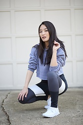 Kimberly Kong - Phat Buddha Leggings, Phat Buddha Cropped Hoodie - Holabird Sports: Where I Get My Workout Gear