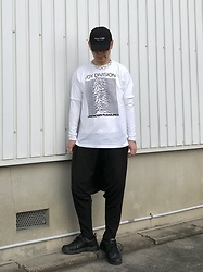 ★masaki★ - Kollaps Post Punk Cap, Joy Division Unknown Pleasures, Monochrome Diopcrotch, Nike Air Monarch - UNKNOWN PLEASURES