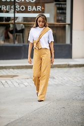 Lauren Recchia - Cotton Citizen Tee, Stine Goya Knit Pants, Stine Goya Knit Blouse, Maison Martin Margiela Cowboy Boots - Magic Pants