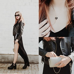 Ola Brzeska - Zaful Leather Jacket, Ti Amo Boots, Brytyjka.Pl Silver Bag, I Coal You Necklace - I coal you