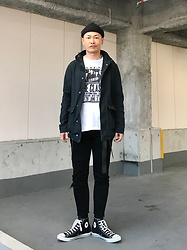 ★masaki★ - The Cast Clash, Neuw Denim Cropped Skinny, Converse Hi - Black & White