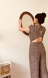 Melissa T. - Reformation Leopard Jumpsuit - Hanging My Frame Like I Park My Car: Crooked.