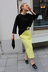 Anna Borisovna - Erika Cavallini Skirt, Mango Shoes, The Attico Bag - The Yellow Skirt