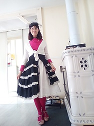 Lulu Longstocking - Vintage Hat, Thrifted Bolero, Bodyline Lolita Skirt, Thrifted Shoes - Victorian inspiration
