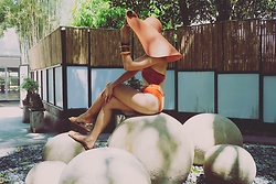 Cassey Cakes - Forever 21 Hat, Mango Bangles, Mango Sandals, Zaful Swimsuit - Jacquemus Love