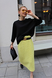 Anna Borisovna - For Arts Sake Sunglasses, Cos Shirt, Erika Cavallini Skirt, Mango Shoes, The Attico Bag - The Yellow Skirt