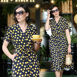 Minimalissmo .. - Makalu Fashion Lemon Print Dress - Lemon print