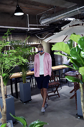 INWON LEE - Byther Cardigan - Green plants