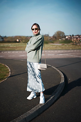 Daniella Robins - Topshop Slip Skirt - 2 Ways I'm Styling The Mint Knit