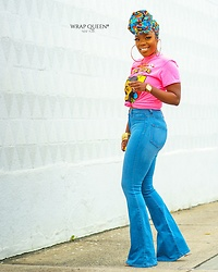 Kelly W -  - Bad Gyal Headwrap N Flare Jeans