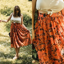 Audrey - Msch Skirt, Bershka Crop Top, Stradivarius Shoes - Maxi skirt