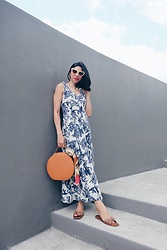 Cassey Cakes - Mango Maxi Dress, Mango Sandals, Mango Scarf - Summer Maxi