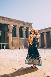 Lindsey Puls - Amazon Dress - What I Wore for Visiting Edfu & Kom Ombo