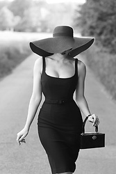 Charlotte S. - Zoe Vine Carly Dress In Black, Killstar Orbit Sun Hat - Bye Bye Paris