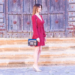 El Rincón de Rachel - Shein Red Leopard Print Dress - Red Leopard Print Dress Outfit