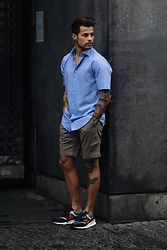 Kevin Elezaj - New Balance Sneakers, A.P.C. Shorts, Tommy Hilfiger Shirt - June 13th