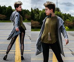 Carolyn W - H&M Asymmetrical, Target Green, Black Milk Clothing Teardrop, Scaled - See You in the Abandoned Parking Lot