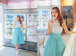 Teterot Salon - Teterot Salon Sum Mint, Teterot Salon Sleeveless Glass Bead - ICECREAM LOOK