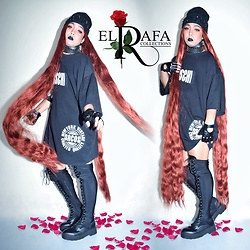 Rafa Concepcion - Forever 21 Beanie, Forever 21 Belt, Moschino Oversized Shirt, Prp Gloves, Forever 21 Knee High Boots - 🖤 Punks not dead Bitches!! 🖤