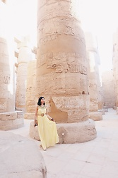 Cassey Cakes - H&M Dress, Mango Belt - Temple of Karnak (on the blog)