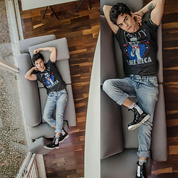 Vini Uehara - Guidomaggi Chelsea, Guidomaggi Boots Black And White - Black and White