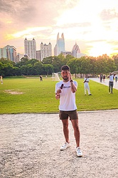 Emmanuel Martz - Calvin Klein Ck T, Calvin Klein White Sneaker, J. Crew Cargo Shorts, Forever 21 Orange Shades - Sunsets in the City