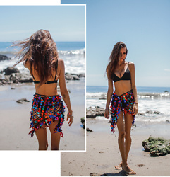 Jenny M - Amazon Fashion Sequin Coverup, H&M Black Bralette Bikini - SEA SPARKLE // thehungarianbrunette.com