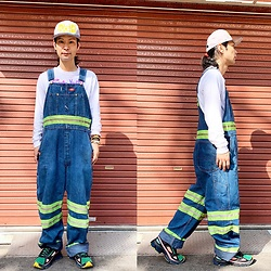 @KiD - Sustos Space Cap, Dickies Reflector Coverall, Sonic Youth Long Sleeve Tee, Adidas Rafsimons - JapaneseTrash509