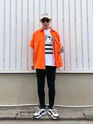 ★masaki★ - Factory Records Tee, Red Kap 90's Work Shirts, Cheap Monday Jeans, Nike Air Monarch - HATE